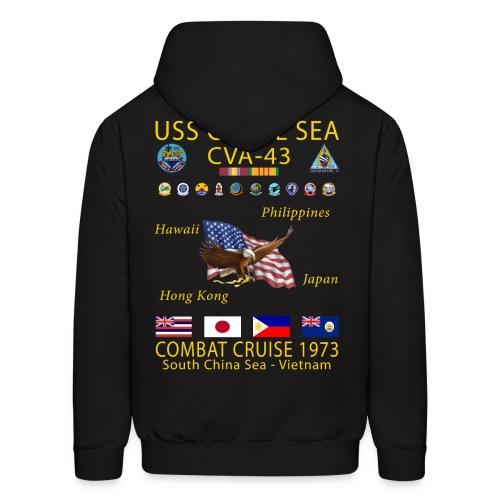 USS CORAL SEA 1973 CRUISE HOODIE - Men's Hoodie