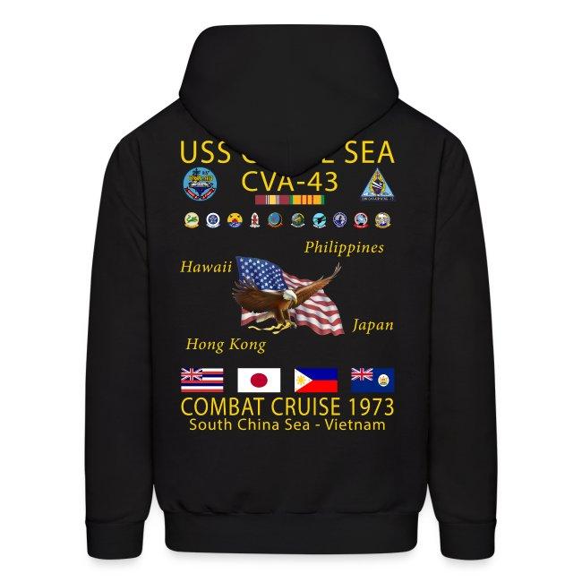 USS CORAL SEA 1973 CRUISE HOODIE