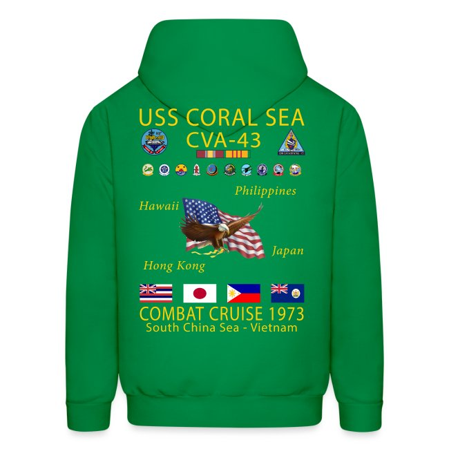 USS CORAL SEA 1973 CRUISE HOODIE