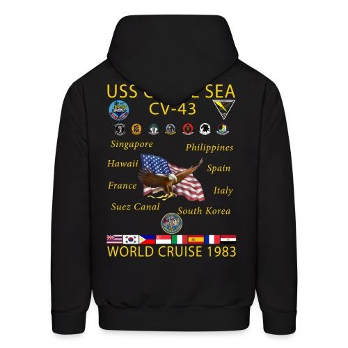 USS CORAL SEA 1983 CRUISE HOODIE - Men's Hoodie