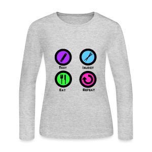 Test Inject Eat Repeat - Women's Long Sleeve Jersey T-Shirt