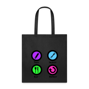 Test Inject Eat Repeat - Tote Bag