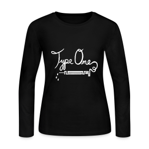 Type One - Needle Design - White - Women's Long Sleeve Jersey T-Shirt