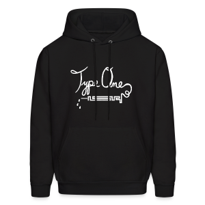 Type One - Needle Design - White - Men's Hoodie