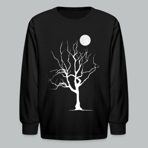 Dead Tree with Moon - Kid's - Kids' Long Sleeve T-Shirt