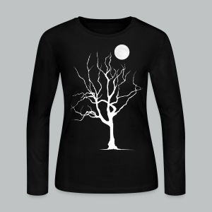 Dead Tree with Moon - Women's - Women's Long Sleeve Jersey T-Shirt
