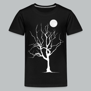 Dead Tree with Moon - Kid's - Kids' Premium T-Shirt