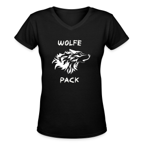 Wolfe Pack (Ladies - Black Version) - Women's V-Neck T-Shirt