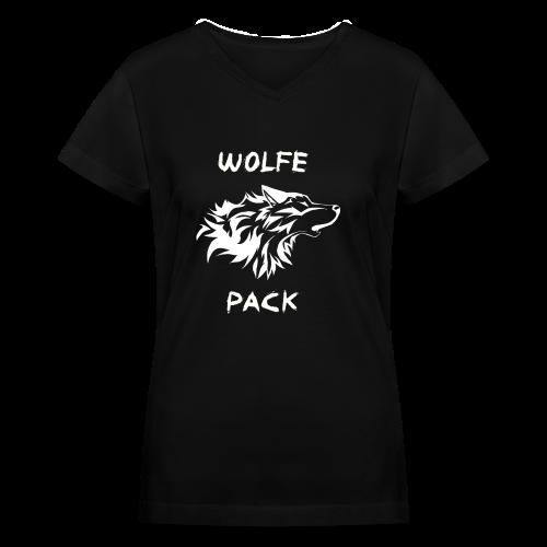 Wolfe Pack (Ladies - Black Version) - Women's V-Neck T-Shirt