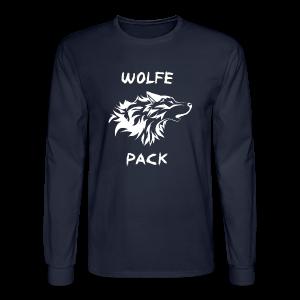 Wolfe Pack (Guys - Longsleeves Navy Version) - Men's Long Sleeve T-Shirt