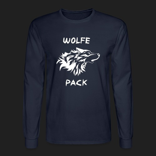 Wolfe Pack (Guys - Longsleeves Navy Version) - Men's Long Sleeve T-Shirt