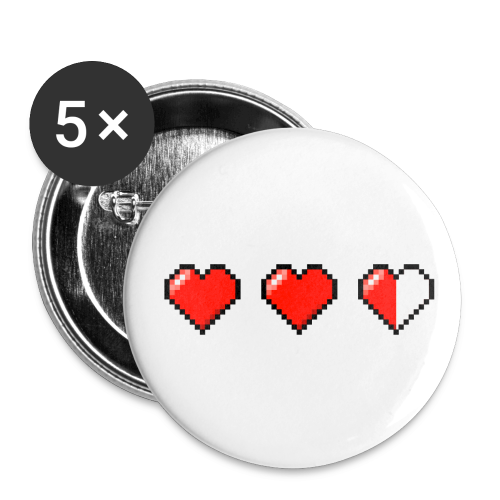 Pixel Heart Pins - Small Buttons