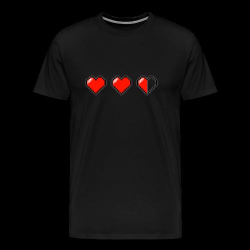 Pixel Hearts T-Shirt - Men's Premium T-Shirt