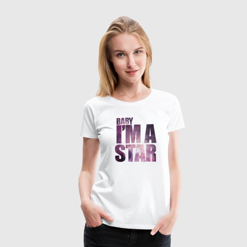 baby Im a star! with hipster starfield Women's T-Shirts - Women's Premium T-Shirt