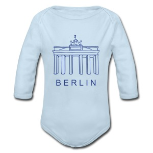 Brandenburg Gate in Berlin - Long Sleeve Baby Bodysuit
