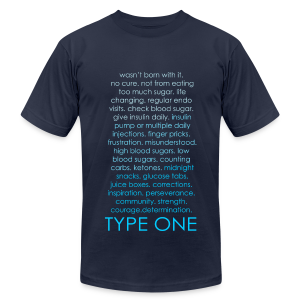 Type One Ombre Design - Blue - Men's T-Shirt by American Apparel