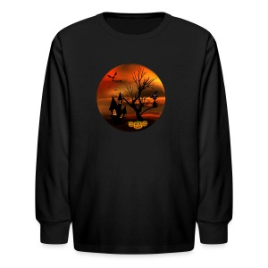 Halloween Cat - Kids' Long Sleeve T-Shirt