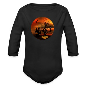 Halloween Cat - Long Sleeve Baby Bodysuit