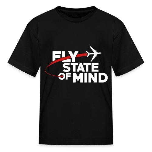 Kids FlyStateOfMind T-Shirt W/Front Logo Black - Kids' T-Shirt