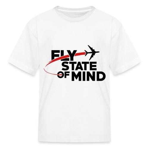 Kids FlyStateOfMind T-Shirt W/Front Logo White - Kids' T-Shirt