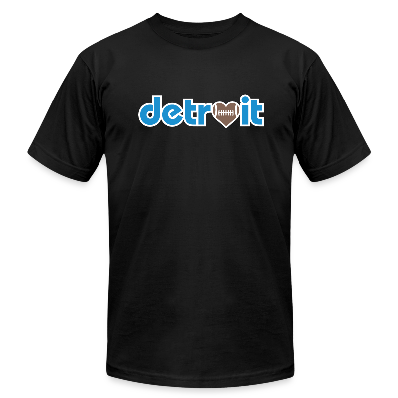 Detroit Football Love - Men's T-Shirt by American Apparel
