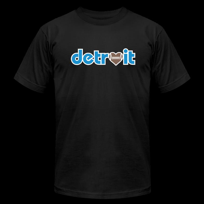 Detroit Football Love - Men's Fine Jersey T-Shirt