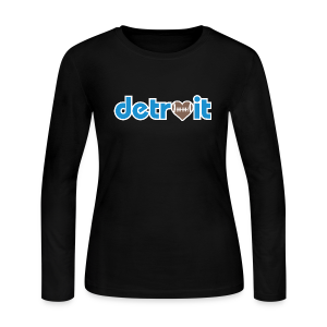 Detroit Football Love - Women's Long Sleeve Jersey T-Shirt