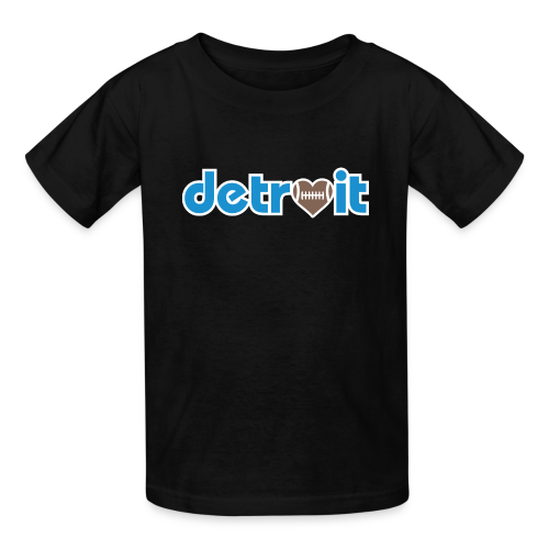 Detroit Football Love - Kids' T-Shirt