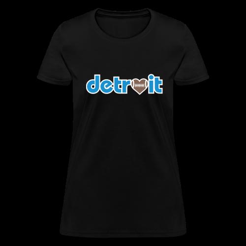 Detroit Football Love - Women's T-Shirt