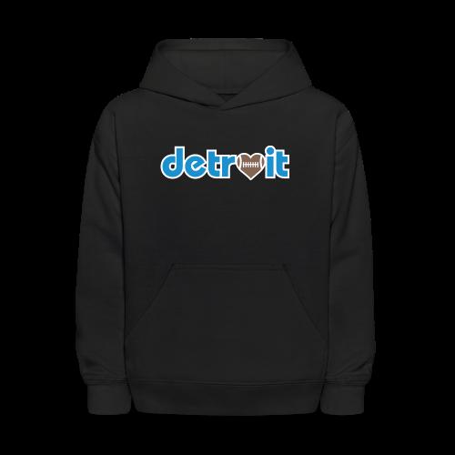 Detroit Football Love - Kids' Hoodie
