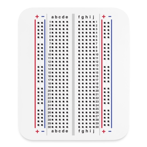 Breadboard Mousepad - Mouse pad Vertical