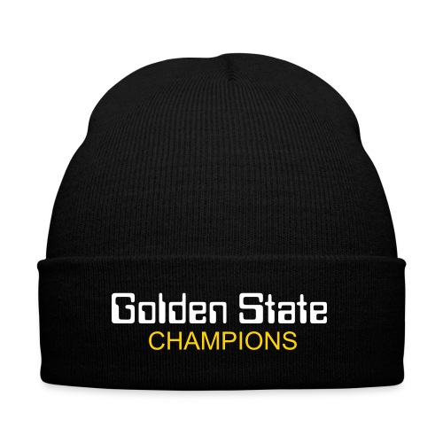 Golden State Warrior knit cap - Knit Cap with Cuff Print