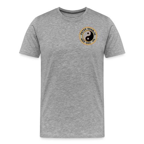 Enter Shaolin Men's T-Shirt Classic Cut Tee Heather Gray (Front & Back Logo in Black) - Men's Premium T-Shirt