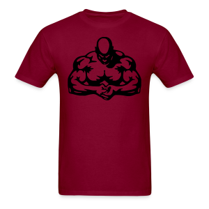 body builder dark red