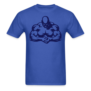 body builder blue blue