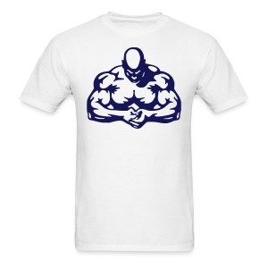 body builder white blue
