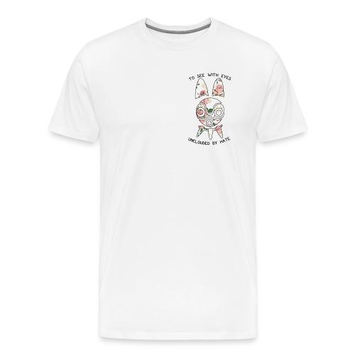 Princess Mononoke San Mask Floral (White) - Men's Premium T-Shirt