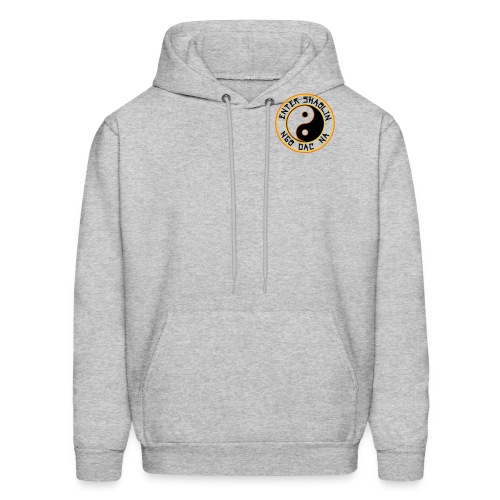 Enter Shaolin Men's Lightweight Pullover Hoodie Heather Gray (Black Lettering) - Men's Hoodie
