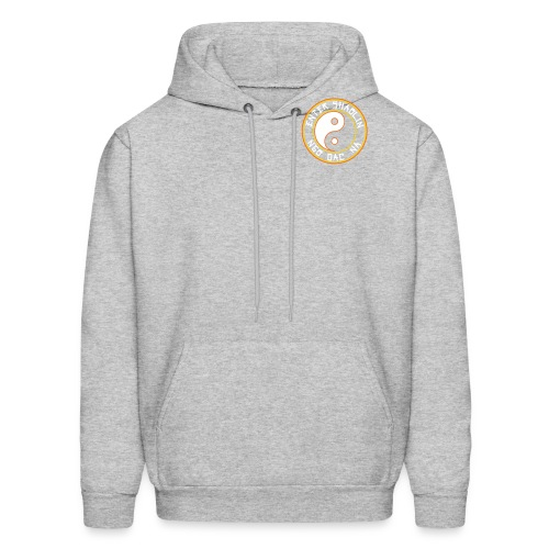 Enter Shaolin Men's Lightweight Pullover Hoodie Heather Gray (White Lettering) - Men's Hoodie