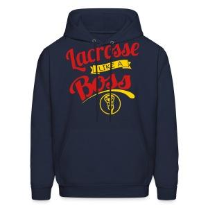 Lacrosse Like A Boss Hoodie - Men's Hoodie
