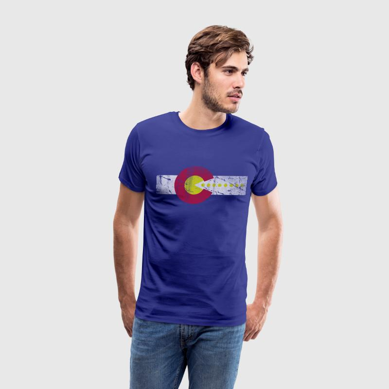 Retro 80s Flag of Colorado T-Shirts - Men's Premium T-Shirt