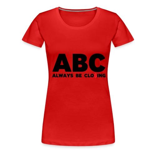 ABC Red - Women's Premium T-Shirt