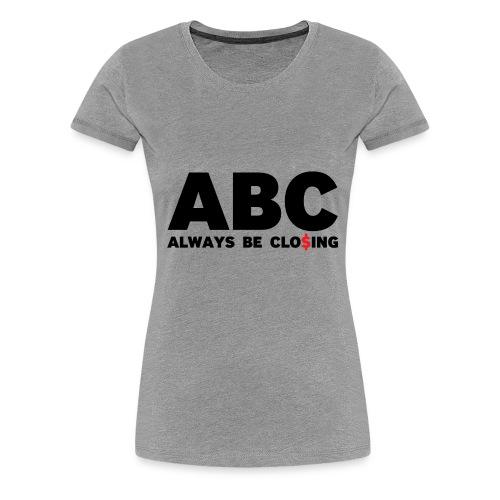 ABC Grey - Women's Premium T-Shirt