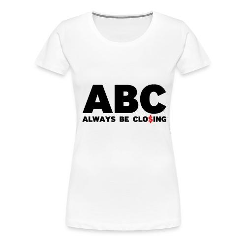 ABC White - Women's Premium T-Shirt