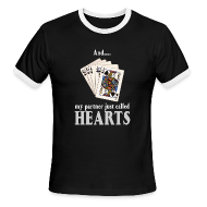 T-Shirts ~ Men's Ringer T-Shirt by American Apparel ~ Partner called hearts