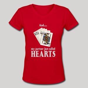 Partner called hearts - Women's V-Neck T-Shirt