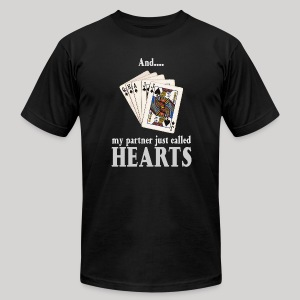 Partner called hearts - Men's T-Shirt by American Apparel