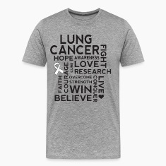 Lung Cancer Awareness Walk Slogan T-Shirts