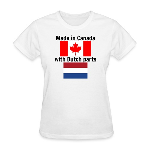 Made in Canada (for women, front) - Women's T-Shirt