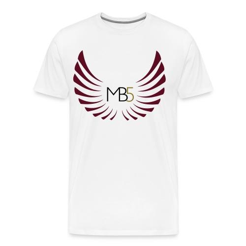 MB5 Logo T-Shirt White - Men's Premium T-Shirt